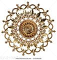 stock-photo--d-set-of-an-ancient-gold-ornament-on-a-white-background-high-resolution-313439330