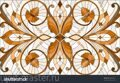 stock-vector-illustration-in-stained-glass-style-with-abstract-swirls-and-leaves-on-a-light-backgrou